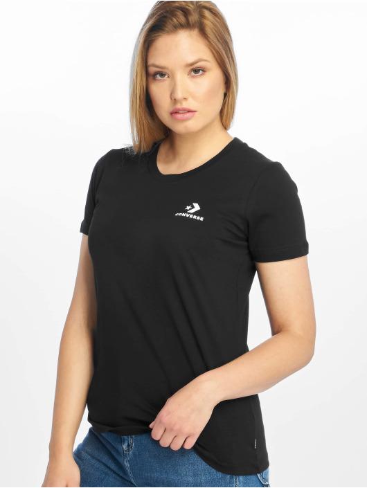 Converse T-Shirt Chevron Left Logo schwarz