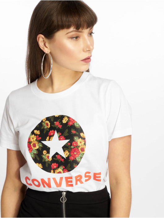 Converse T-Shirt In Bloom weiß