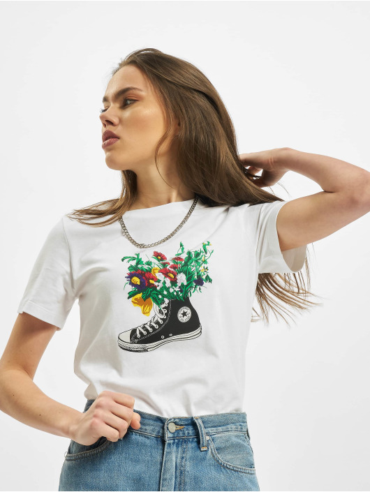 Converse T-Shirt Flowers Are Blooming white