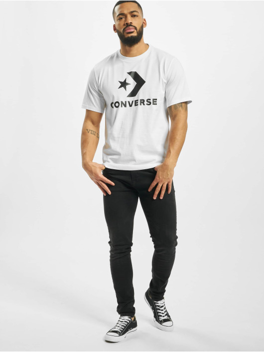 Converse t-shirt Chevron wit