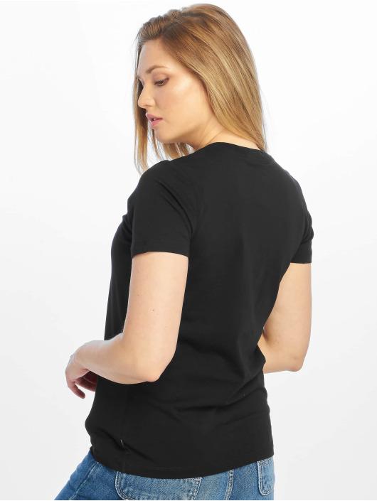 Converse t-shirt Chevron Left Logo zwart