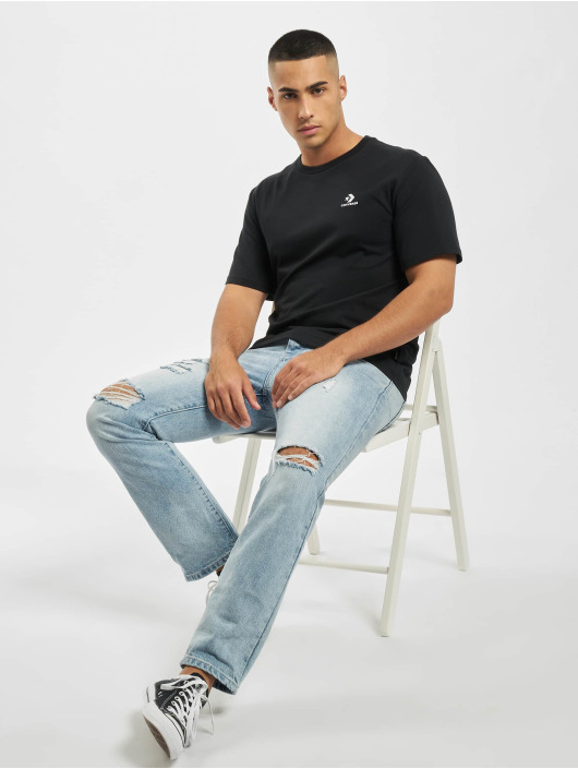 Converse t-shirt Embroidered SC Left Chest zwart