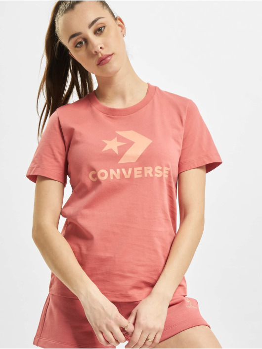Converse T-shirts Star Chevron Center Front pink