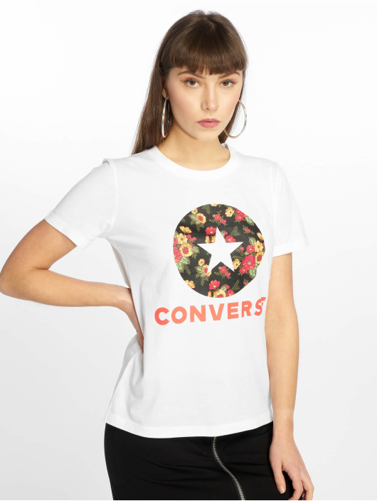 Converse T-Shirty In Bloom bialy