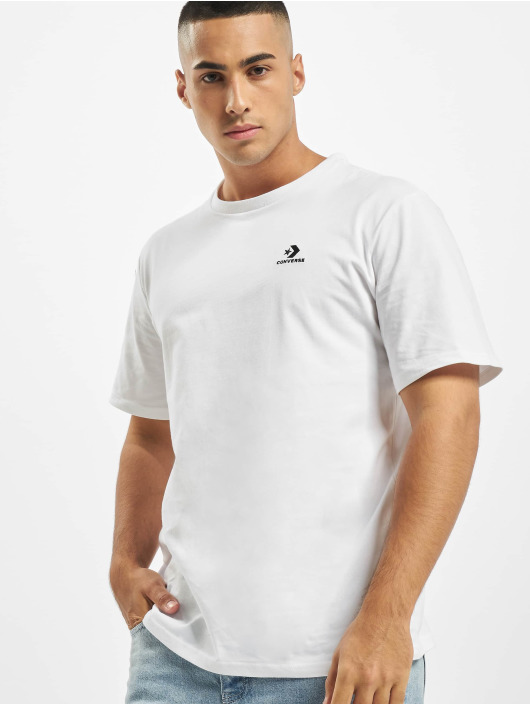 Converse T-Shirty Embroidered Star Chev Left Chest bialy