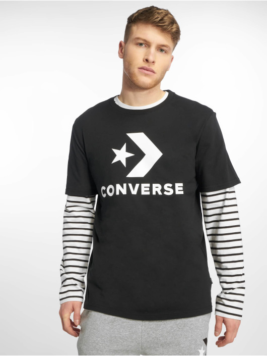 Converse T-Shirty Star Chevron czarny