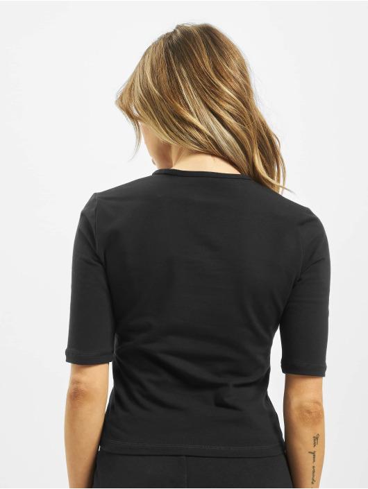 Converse T-Shirty 3/4 Slim Cropped czarny