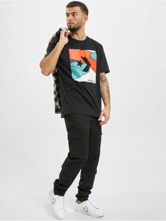 Converse T-Shirty Colorblocked Court czarny