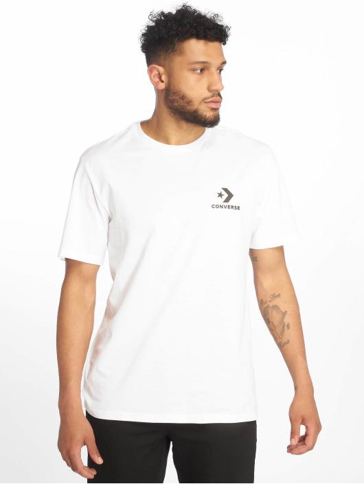 Converse T-skjorter Left Chest Star Chevron hvit