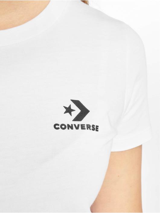 Converse T-skjorter Chevron Left Logo hvit
