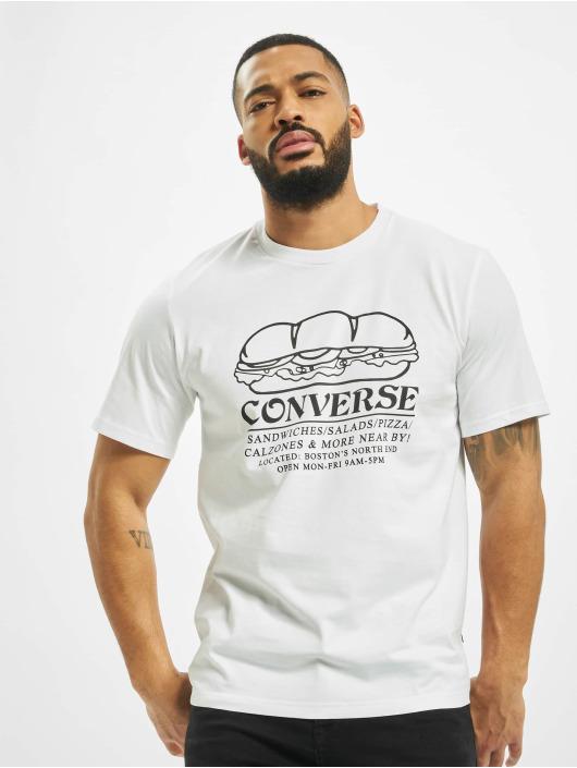 Converse T-skjorter Sandwich Shop hvit