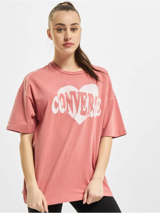 Converse T-skjorter Vintage Wash Heart Infill lyserosa
