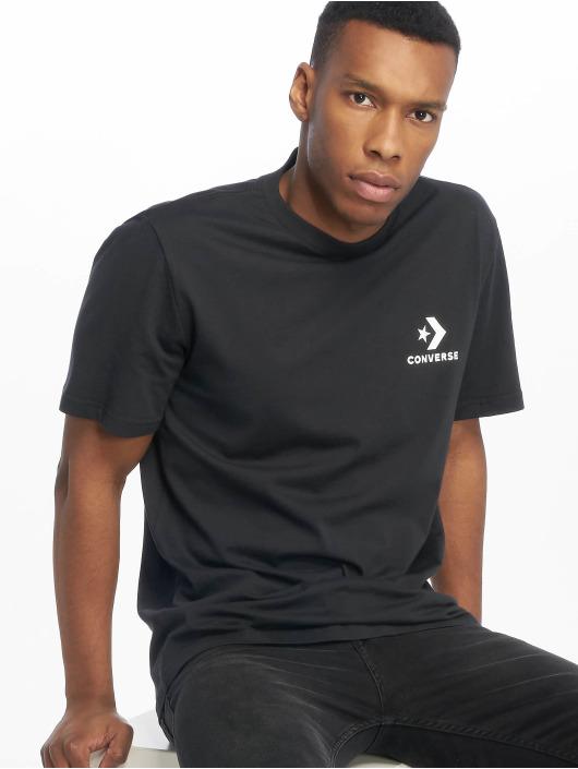 Converse T-skjorter Left Chest Star Chevron svart