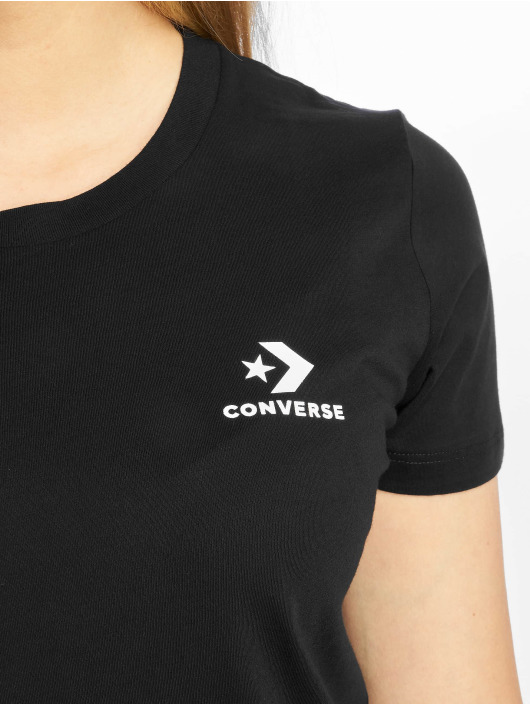 Converse T-skjorter Chevron Left Logo svart