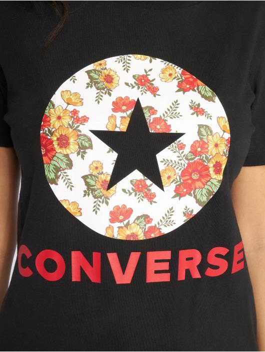 Converse Tričká In Bloom èierna