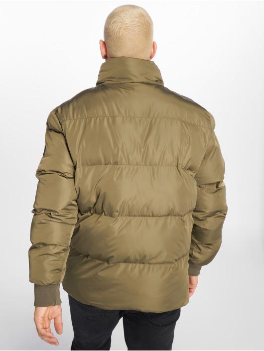 Criminal Damage Стеганая куртка Metro Puffer оливковый