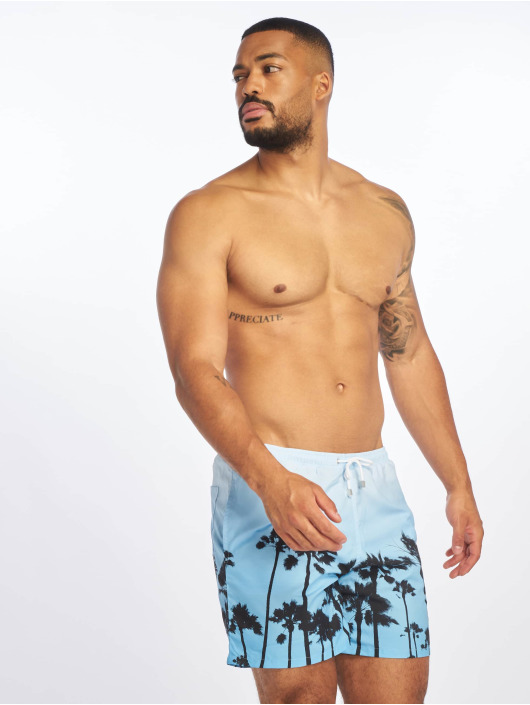 Criminal Damage Badeshorts Palm blau
