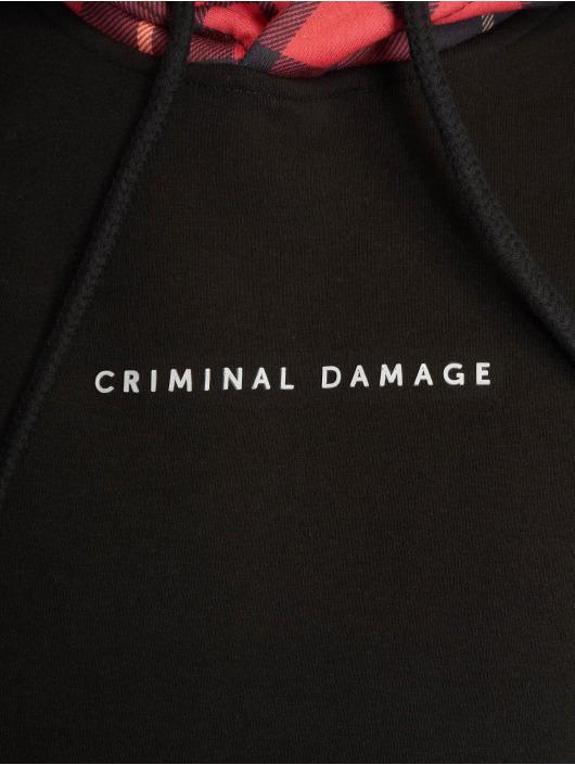 Criminal Damage Bluzy z kapturem Lumber czarny
