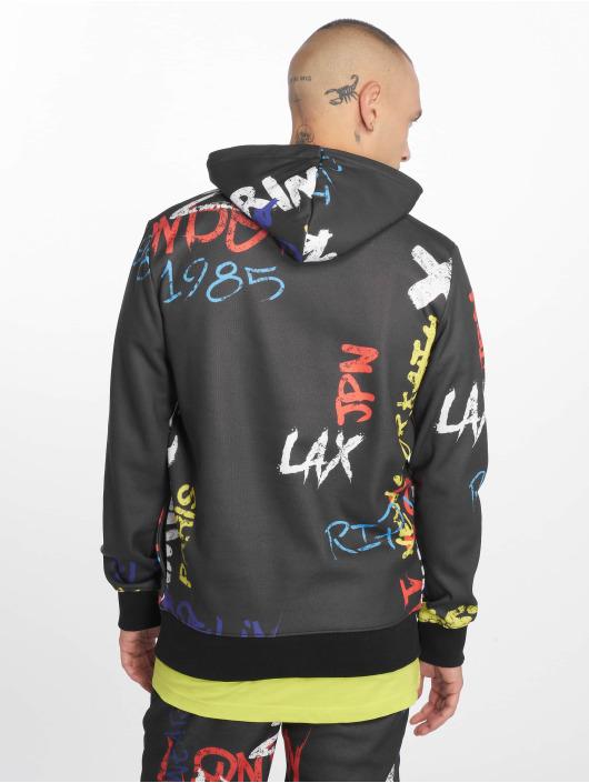 Criminal Damage Bluzy z kapturem Graffiti czarny