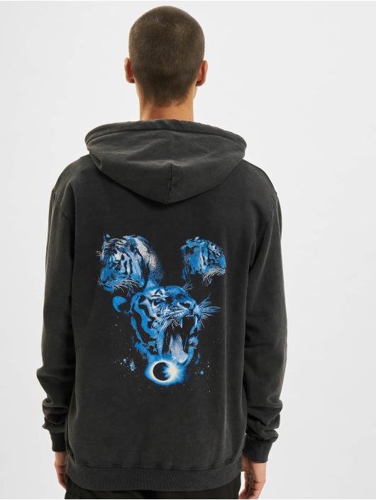 Criminal Damage Bluzy z kapturem Tiger Collage czarny