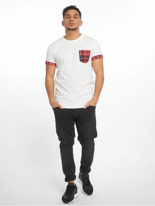 Criminal Damage Camiseta Check Pocket blanco