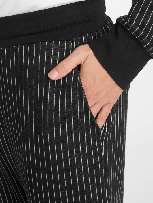 Criminal Damage Joggebukser Pinstripe svart