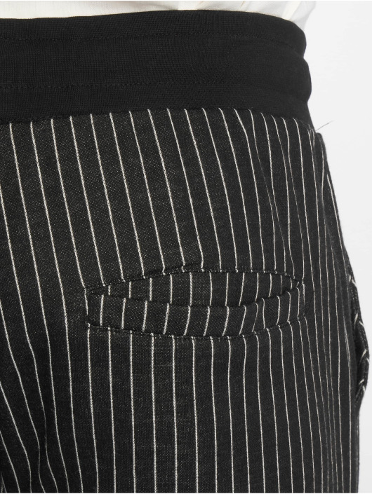 Criminal Damage Jogginghose Pinstripe schwarz