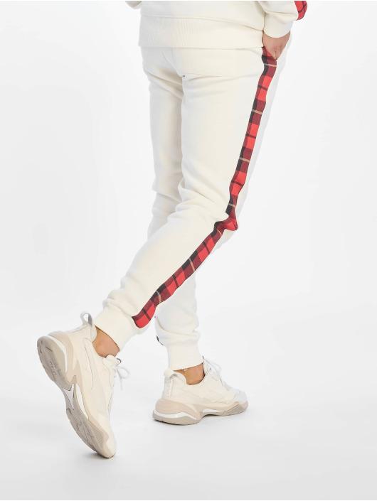 Criminal Damage Jogginghose Check weiß