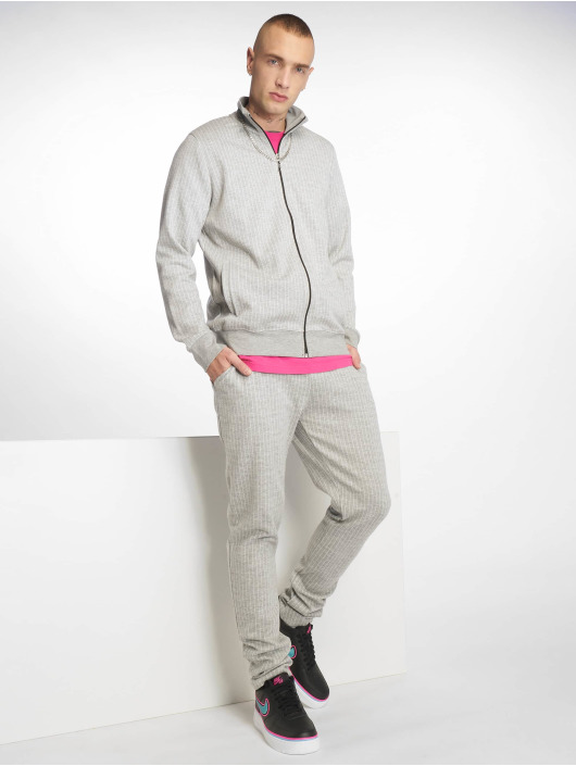 Criminal Damage Pantalón deportivo Pinstripe gris