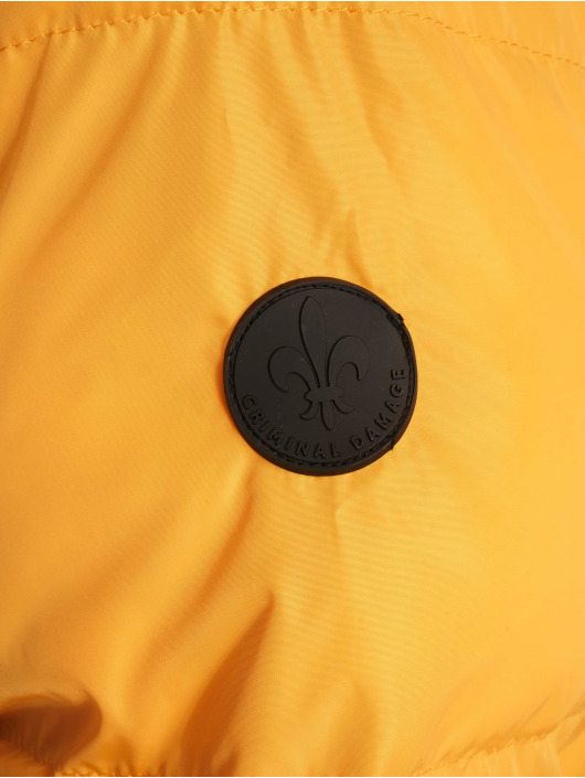 Criminal Damage Puffer Jacket Covent gelb