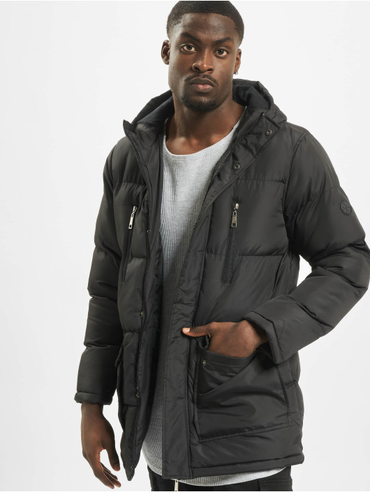 Criminal Damage Puffer Jacket Walker Puffa schwarz