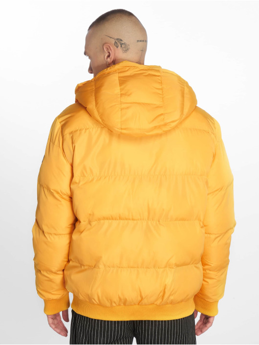 Criminal Damage Puffer Jacket Covent yellow
