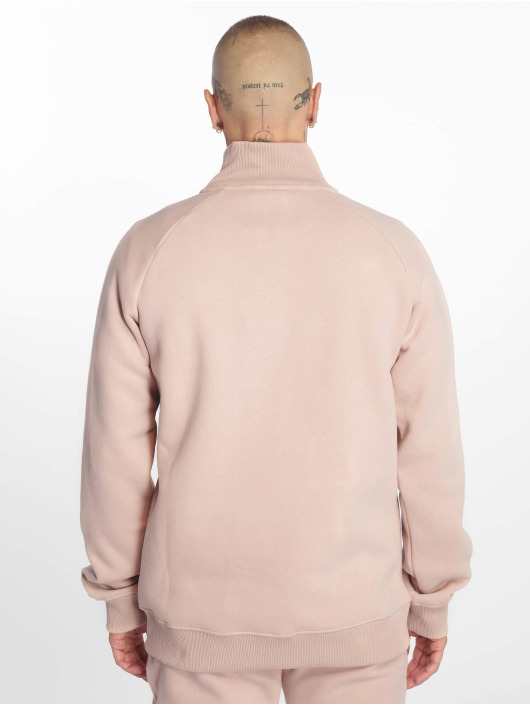 Criminal Damage Pullover Muscle Half Zip rosa