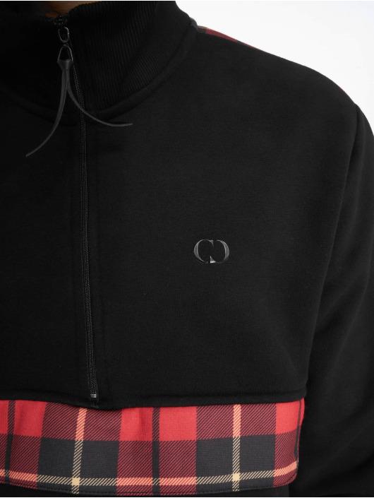 Criminal Damage Pullover Check Globe schwarz