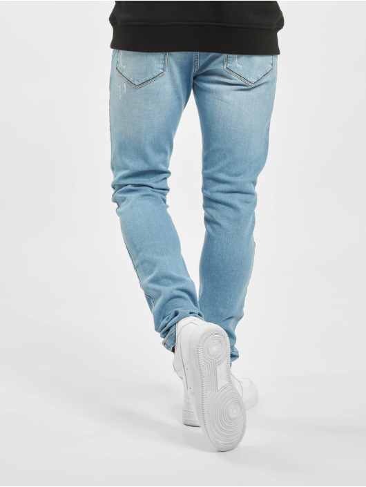 Criminal Damage Skinny Jeans Shelby blau
