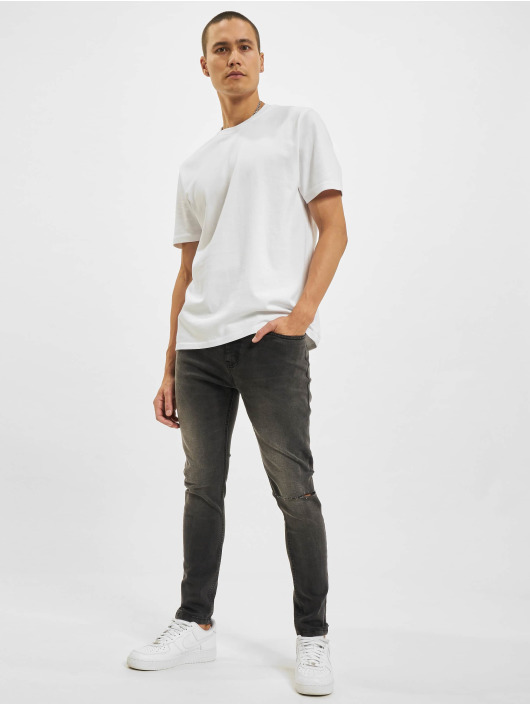 Criminal Damage Skinny jeans Rip grå