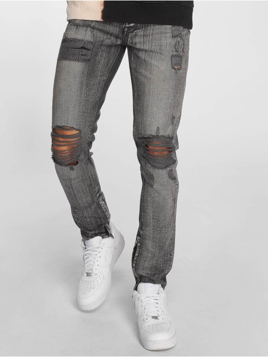 Criminal Damage Skinny Jeans Carter grau