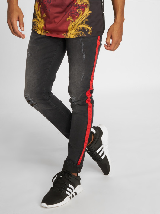 Criminal Damage Skinny Jeans Jean Tape grey