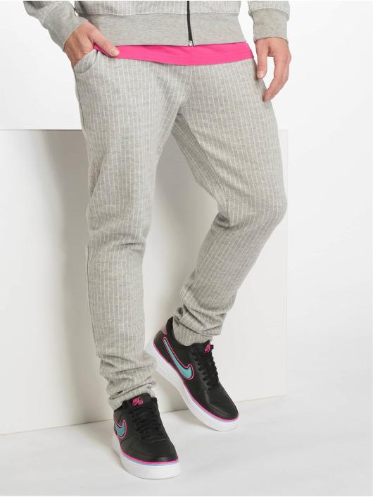 Criminal Damage Spodnie do joggingu Pinstripe szary