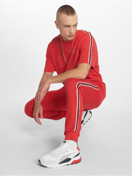 Criminal Damage Sweat Pant Wise red
