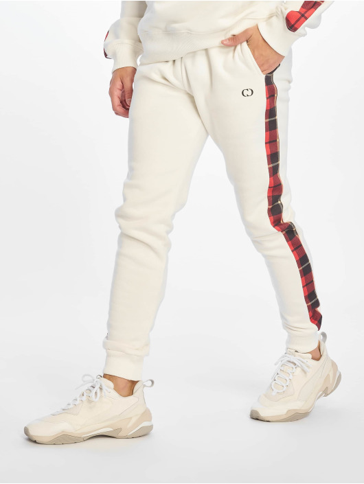 Criminal Damage Sweat Pant Check white