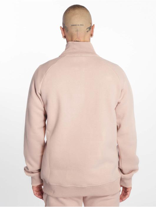 Criminal Damage Swetry Muscle Half Zip rózowy
