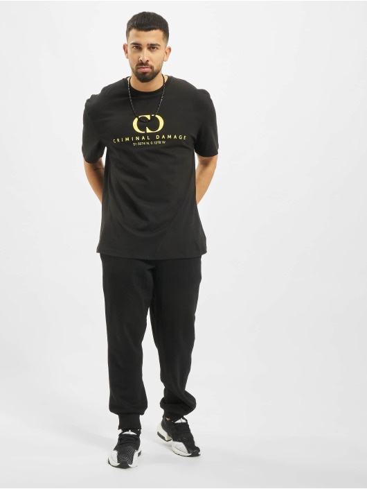 Criminal Damage T-paidat Coordinate Oversize musta