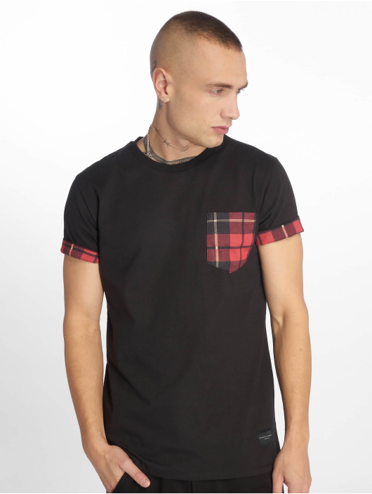 Criminal Damage T-Shirt Check Pocket black