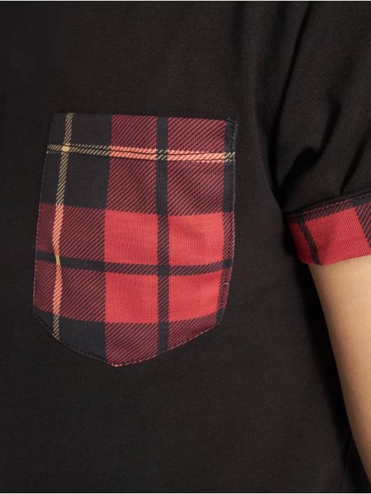 Criminal Damage T-Shirt Check Pocket black