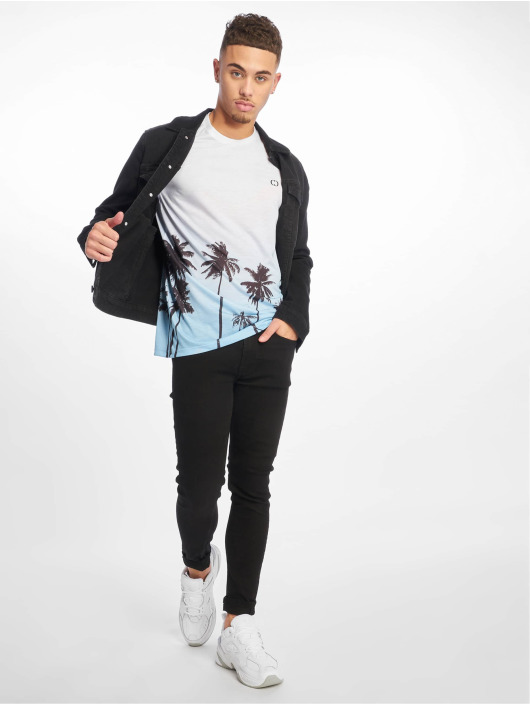 Criminal Damage T-Shirt Palm Tree blau