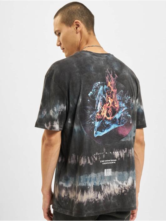 Criminal Damage T-Shirt Fire Ice Tie Dye blau