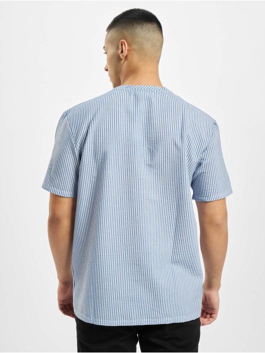 Criminal Damage t-shirt Pasadena Seesucker blauw