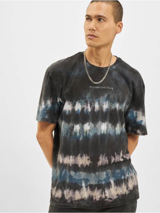 Criminal Damage T-Shirt Fire Ice Tie Dye bleu