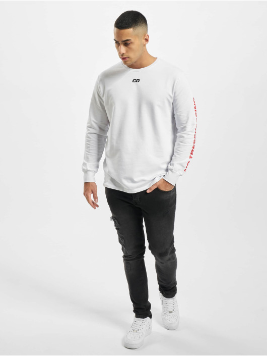 Criminal Damage T-Shirt manches longues Cd Trespassing blanc